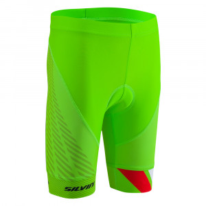 Silvini Team Bike Pants Kids - green/red