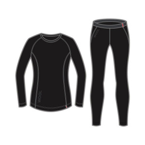 L�ffler Set Transtex Wool Lang Women - schwarz