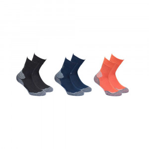 High Colorado Outdoor Hiking Socks 3 Pack Kids - black/navy/orange
