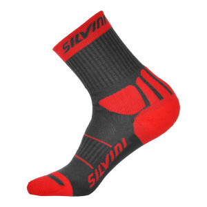 Silvini Vallonga Socks - charcoal-red