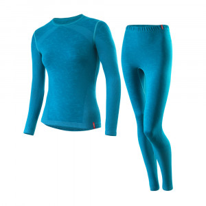 Löffler Set Long Transtex Warm Seamless Women - laguna