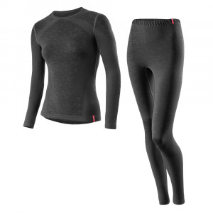 Löffler Set Long Transtex Warm Seamless Women - black