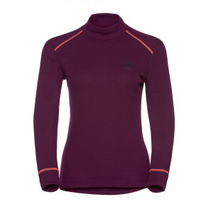 Odlo Turtle Neck Shirt Warm Women - pickled beet