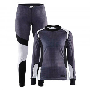 Craft Baselayer Set Women - dark grey/white
