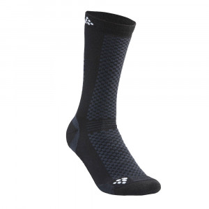 Craft Warm Mid Socks 2 Pack - black/white