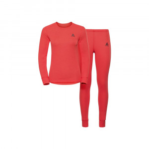 Odlo Long Warm Set Women - hot coral