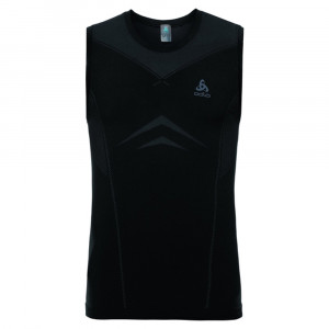 Odlo SUW Performance sleeveless Light Shirt - black/odlo graphite grey