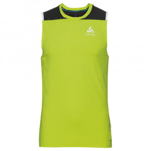 Odlo Zeroweight Ceramicool sleeveless Shirt - acid lime/black