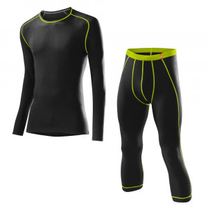 Löffler Set Transtex Warm 3/4 Pants - black/lime