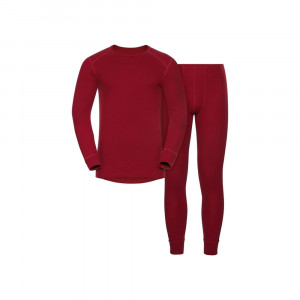 Odlo Long Warm Set - red dahlia