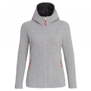 Salewa Sarner 2 Layer Wool Hoody Women - silver