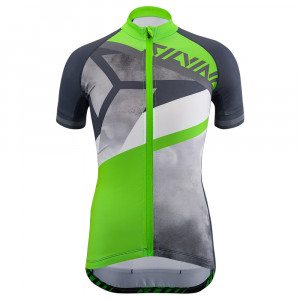 Silvini Tanaro Bike Jersey Kids - charcoal/green