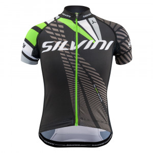 Silvini Team Bike Jersey Kids - black/green