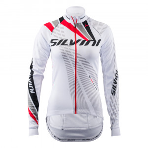 Silvini LS Team Bike Jersey Women - white/red