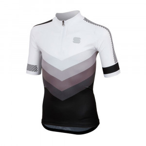 Sportful Chevron Jersey Kids - white/black