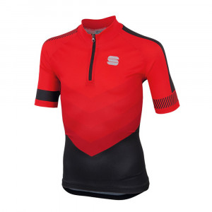 Sportful Chevron Jersey Kids - red/black