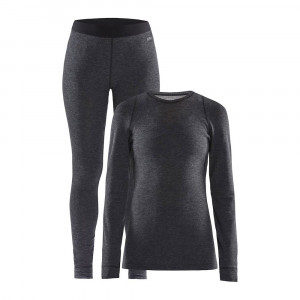 Craft Merino 180 Set Women - black/melange
