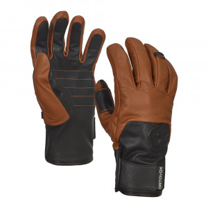 Ortovox Swisswool Leather Glove - brown