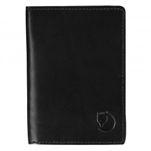 Fj�llr�ven Leather Passport Cover - black