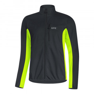 Gore Wear C3 GORE� WINDSTOPPER� Classic Thermo Jacket - black/neon yellow