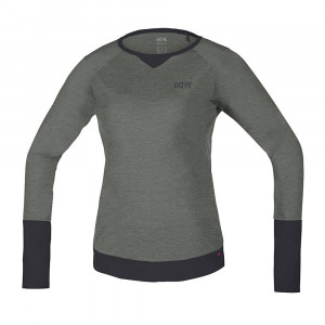 Gore Wear C5 Trail Long Sleeve Jersey Women - castor grey/terra grey