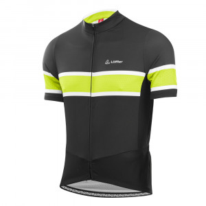 L�ffler Bike Jersey FZ Pace - black/light green