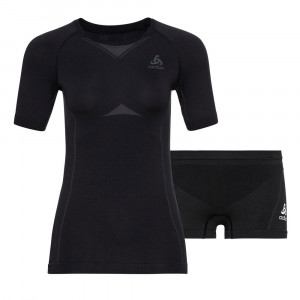 Odlo Performance Evolution Baselayer Set Women - black/odlo graphite grey