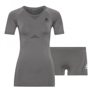 Odlo Performance Evolution Baselayer Set Women - odlo steel grey/odlo graphite grey