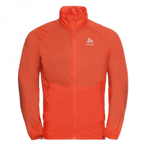 Odlo Zeroweight Dual Dry Running Jacket - mandarin red