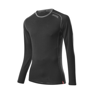 L�ffler Hr. Shirt Transtex Wool LA - schwarz