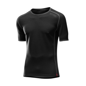 L�ffler Hr. Shirt Transtex Wool KA - schwarz