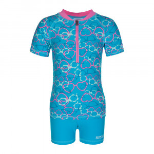 Regatta Wader Shirt + Shorts Kids - aqua glasses print top/aqua short