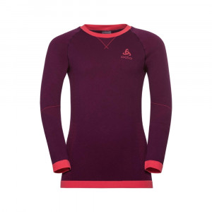 Odlo Performance Shirt Warm Kids - pickled beet/hibiscus