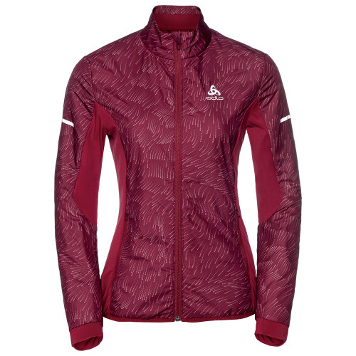 Odlo Irbis Jacket Women - rumba red
