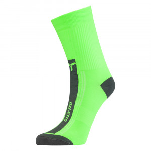 Silvini Allaro Bike Socks - green/charcoal