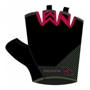 Silvini Albano Bike Gloves Women - olive/punch
