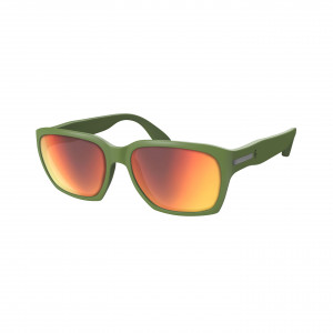 Scott C-Note Sunglasses - dark green/red chrome