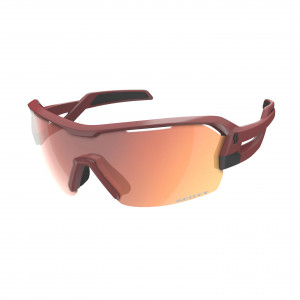 Scott Spur Sunglasses - dark red/red chrome/clear