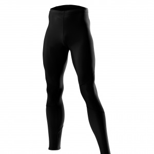 L�ffler Running Tights Thermo - black/carrot