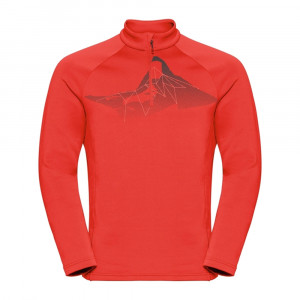 Odlo 1/2 Zip Glade Midlayer - poinciana/placed print FW19