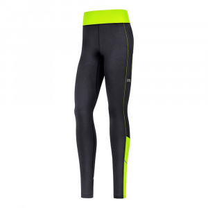 Gore Wear R3 Women Thermo Tights - black/neon yellow