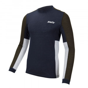 Swix Aspire Wool Blend Longsleeve - dark navy