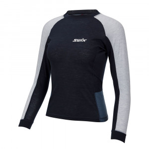 Swix Aspire Wool Blend Longsleeve Women - dark navy/blue sea