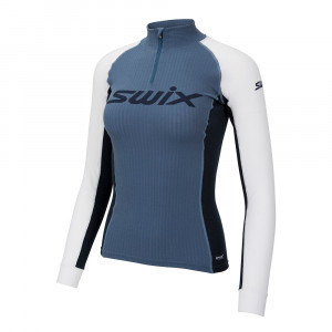 Swix RaceX Bodywear Halfzip Women - blue sea