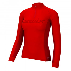 Swix RaceX Bodywear Halfzip Women - fiery red