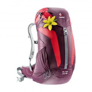 Deuter AC Lite 22 SL Backpack - aubergine/fire
