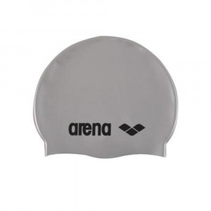 Arena Swimming Cap Classic silver-black