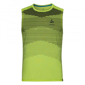 Adlo Aion BL sleeveless Shirt - acid lime melange/print