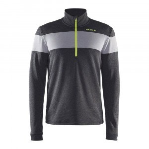Craft Spark Halfzip - black/dark grey melange